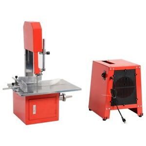 2 in 1 Commercial Electric Stand Up Meat Band Saw Grinder Sausage Maker 120 V