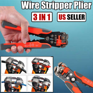Multifunctional Automatic Cable Wire Stripper Cutter Crimper Electric Tool Usa