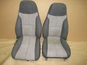 93 95 Camaro Z28 Graphite gray Cloth Seat Seats Set 0303 5