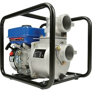 Portable Water Pump 3 In And Out 264 Gpm 7 Hp Gas Engine 85 Ft Head
