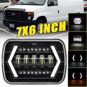 7x6 Led Headlight W Turn Signal Drl For Ford E 150 E 250 Econoline 1982 2012