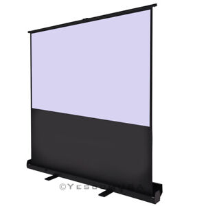 60 4 3 Portable Pull Up Floor Screen Projector Projection W Aluminium Case