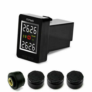 Careud Car Tpms Wireless Tire Pressure Monitoring System 4 Sensor For Toyota