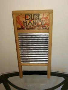 Ln Vintage Dubl Handi Columbus Washboard Co Travel Wash Board 18 X 8 5