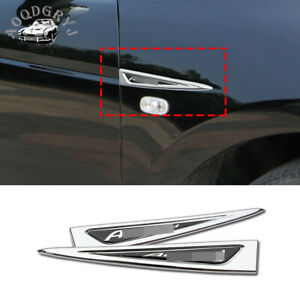 Chrome Fender Side Air Vent Outlet Cover Trim 1 Pair For Honda Accord 2008 2012