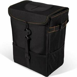 Universal Car Auto Trash Can Trash Bag With Lid And Storage Pockets