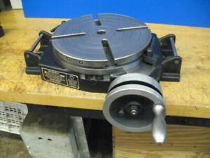 12 Bridgeport Milling Machine Rotary Table superb Condition