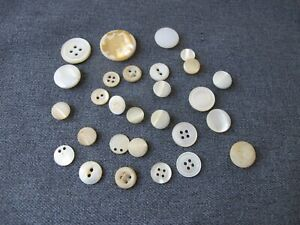 Antique Victorian Different Shapes Colors And Sizes Mother Of Pearl Buttons 520m