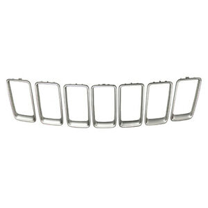Grille Trim Ring Set Fits 2014 2016 Jeep Grand Cherokee