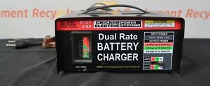 Chicago Electric Power Systems 45005 Dual Rate Battery Charger 6 12v 2 6a