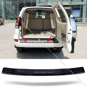 Black Rear Bumper Pedal Cover Trim For 2003 2009 Toyota Land Cruiser Prado Fj120