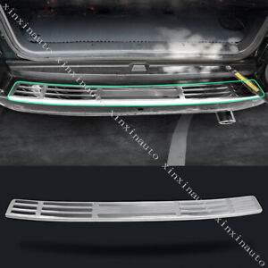 Stainless Rear Bumper Pedal Cover Trim For 03 09 Toyota Land Cruiser Prado Fj120