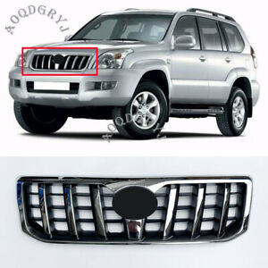 Front Bumper Radiator Chrome Grille For Toyota Prado 120 Series 03 09 With Badge