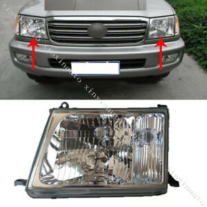 2pcs Headlights Head Lamp For Toyota Land Cruiser Lc100 Left Right 1998 2004