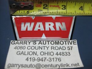 Warn 98398 27325 Winch Replacement Gel Red W Decal Label Sticker Xd9000i 12v