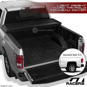 For 2014 2018 Chevy Silverado 6 5 Bed Tri Fold Hard Tonneau Cover Light Weight