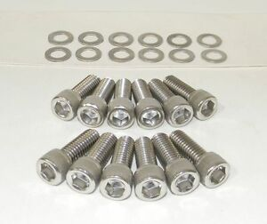 Sbc Intake Manifold Bolts Stainless Steel Allen Fits 283 400 Small Block Chevy