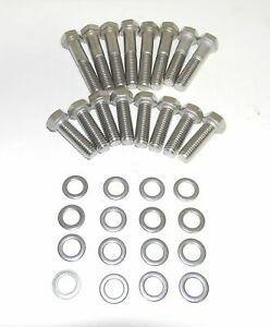 Ford Big Block 429 460 Edelbrock Victor P N 2966 Stainless Steel Intake Bolts