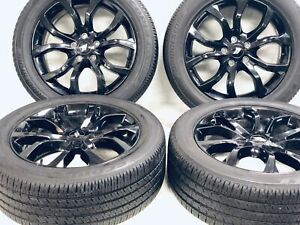 20 Dodge Durango Rt Black Wheels Rims Tires Factory Oem 2019 2020 Set 4 2659
