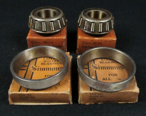 Nos Pair Ford Model T Front Inner Wheel Bearings Cups 2833 2834 1909 1927