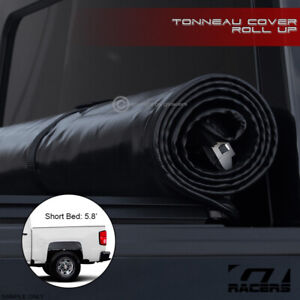 For 2014 2018 Chevy Silverado 5 8 Ft Short Bed Lock Roll Up Soft Tonneau Cover