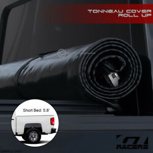 For 2014 2018 Chevy Silverado Crew Cab 5 8 Ft Bed Lock Roll Soft Tonneau Cover