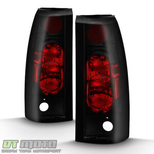 Black Smoke 1988 1998 Chevy Silverado Gmc Sierra Suv Truck Tail Lights Lamps G2