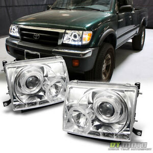 For 97 00 Toyota Tacoma 2wd 98 00 4wd Led Halo Projector Headlights Left right