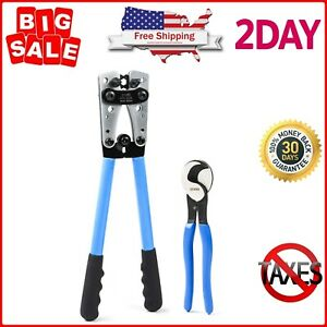 Battery Cable Lug Crimping Tools Hand Electrician Pliers For Wire From Awg 8 1 0