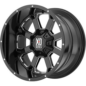 4 20x10 Black Xd825 5x5 5x135 24 Wheels Terra Grappler G2 Tires