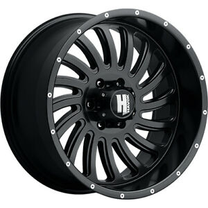 20x10 Black Havok H111 6x5 5 24 Wheels Nitto Terra Grappler G2 305 50r20 Tires