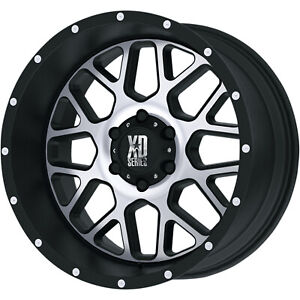 4 20x10 Black Machined Xd Xd820 6x5 5 24 Wheels Terra Grappler G2 Tires