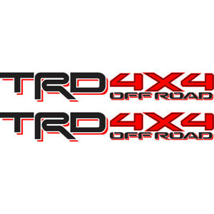 Toyota Trd 4x4 Off Road Tacoma Tundra Sticker Decal 01