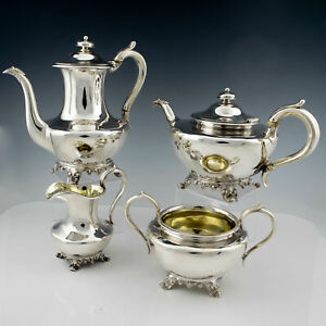 Complete Sterling Silver Tea And Coffee Service London 1838