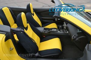 Coverking Cr Grade Neoprene Front Rear Yellow Seat Covers For Chevy Camaro 5