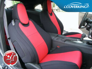 Coverking Cr Grade Neoprene Front Rear Red Seat Covers For Chevy Camaro 5