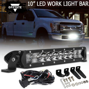 11 50w Led Light Bar Lower Bumper Driving Fog Lights For 2017 Up Ford F250 F350