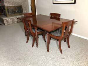 Willett Wildwood Cherry Dining Set Table 6 Chairs China Cabinet