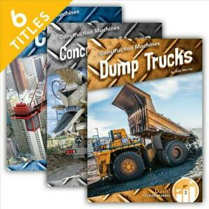 Construction Machines set english Library Binding Book Free Shipping