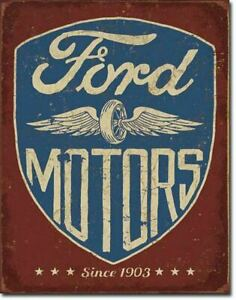 Vintage Replica Tin Metal Sign Poster Ford Motors Since 1903 Tool Garage 2205