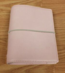Genuine Filofax Domino Soft Leather Pink 6 Ring Pocket Organiser With Inserts