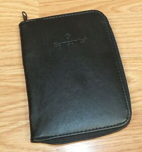 Genuine Samsonite Black Zip Up Pocket Sized Organizer Planner read