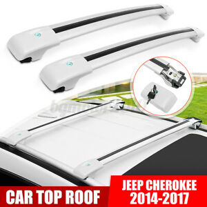 Car Top Roof Rack Cross Bar Assembly Luggage Carrier For Jeep Cherokee 2014 2019