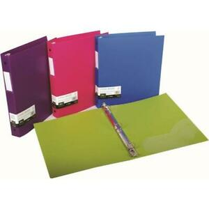 Well made 3 Ring Binder 1 Capacity Opaque Letter Size Pack Of 4 Four Colors