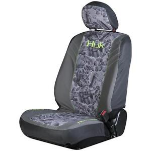 Huk Fishing Freshwater Gray Green Universal Seat Cover Car Truck Auto