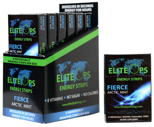 ELITE OPS ENERGY STRIPS 48 STRIPS Counter Unit FIERCE MINT $53.00