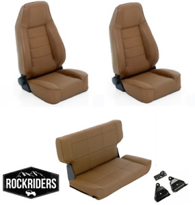 1997 2006 Jeep Wrangler Tj Lj Reclining Front And Rear Seat Combo Kit Spice Tan