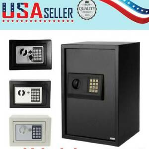 White black Safe Security Box Home Hotel Office Wall Cabinet Keypad Lock