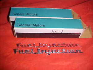 Nos Gm 1957 Chevy Corvette Fuel Injection Emblems new In The Box Rat Rod