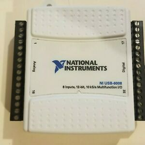 Usa Usb 6008 Data Acquisition Card Ni Daq Multifunction Used Test